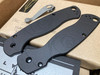 LYNCHNW SPYDERCO PARA MILITARY 2. BLACK ANODIZED ALUMINUM HANDLE. LYNCH TI POCKET CLIP. LIMITED EDITION. CUTLERY SHOPPE EXCLUSIVE