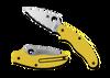 "Spyderco C94SYL UK PenKnife Slipit - 2.93""  Serrated Edge Leaf Shape LC200N Blade - Yellow FRN Handle"