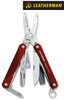 "Leatherman 831198 Squirt ES4 - 2.25"" Closed - 9 Tools - Red Hard Anodized Aluminum Handle"