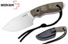 BOKER PLUS 02BO273 BOB FIXED BLADE. BLACK KYDEX SHEATH. CUTLERY SHOPPE