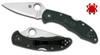"SPYDERCO C11PGRE DELICA 4. 2.88"" SATIN FINISH PLAIN EDGE ZDP-189 BLADE. BRITISH RACING GREEN FRN HANDLE. CUTLERY SHOPPE"