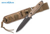 Benchmade 140BKSN Nimravus - BK1 Coated 154CM Blade - Plain Edge - Coyote Color Handle Scales - CUTLERY SHOPPE
