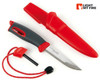 "Light My Fire Swedish FireKnife - 3.9"" Plain Edge Blade - w/Swedish FireSteel - Red"