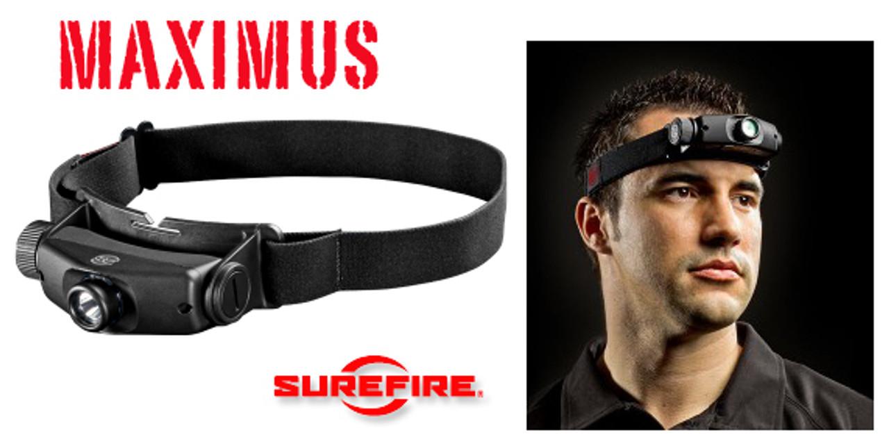 1 To 1,000 Lumen Headlamp Surefire Maximus Rechargeable Variable-Output