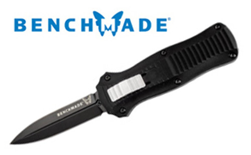 Benchmade 3350BK Mini Infidel OTF AUTOMATIC - D2 Tool Steel Double Edge Blade - BK1 Coated Blade - CUTLERY SHOPPE