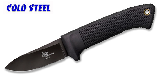 "Cold Steel 36LPCSS - 3V Pendleton Hunter - 3.5"" CPM 3-V Blade w/DLC Coating - Kray-Ex™ Handle - Secure-Ex® Sheath - CUTLERY SHOPPE"