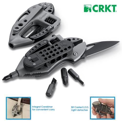 CRKT 9070K Guppie Multi-Tool - Black/Black Finish - Only 4.1 oz. - CUTLERY SHOPPE