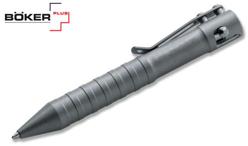 Boker Plus Tactical Writing Pen Click-On Gray w// Black Body P09BO119