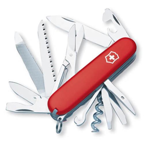 "VICTORINOX SWISS ARMY RANGER 53861 91MM (3.58"") RED HANDLE. CUTLERY SHOPPE"