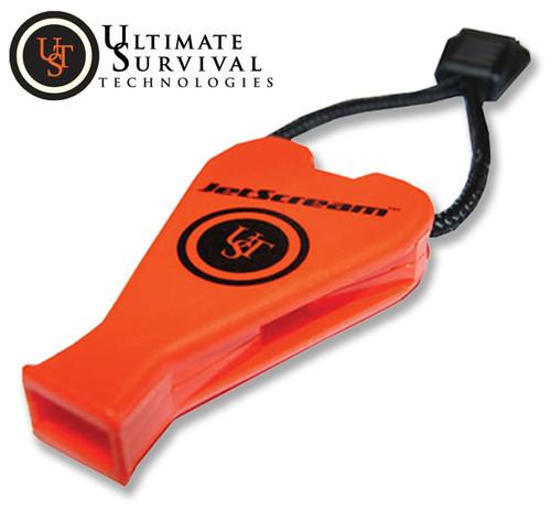 Ultimate Survival 4100 JetScream Whistle - Orange - Ear-Piercing 122dB Shriek!