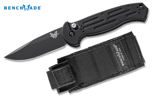 Benchmade 9051BK AFO II AUTOMATIC - UTILITY Plain Edge/BK 1 Black Finish