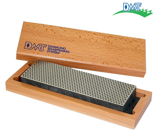 "DMT W8X EXTRA COARSE 8"" DIAMOND WHETSTONE W/HARDWOOD CASE. CUTLERY SHOPPE"