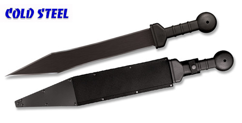 "Cold Steel 97GMSC Gladius Machete – 18"" Black Finish Double Edge Blade – Polypropolene Handle – Cor-Ex Sheath"