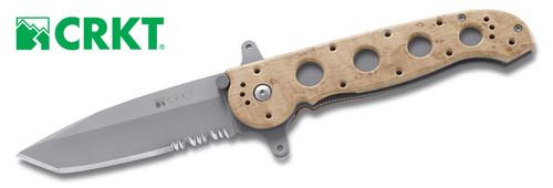 "CRKT M16-14ZSF Desert Tactical Tanto Folder - 3.875"" Combo Edge Bead Blasted Finish Blade - CUTLERY SHOPPE"