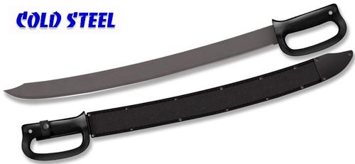 "Cold Steel 97DRMS Cutlass Machete - 24"" Carbon Steel Blade w/Baked-on Anti Rust Black Finish - Polypropylene Handle - Cor-Ex Sheath - CUTLERY SHOPPE"