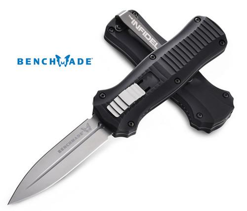 Benchmade 3350 Mini Infidel OTF AUTOMATIC - D2 Tool Steel Double Edge Blade - CUTLERY SHOPPE