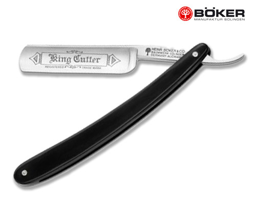 "BOKER 140521 KING CUTTER STRAIGHT RAZOR. 5/8"" CARBON STEEL BLADE. CUTLERY SHOPPE"