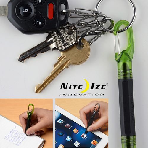 Nite Ize Inka Mobile Pen + Stylus - Blue Ink Pen - Touchscreen Stylus - Lime