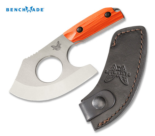 "Benchmade 15100-1 Nestucca Cleaver - 4.41"" Blade - Full Tang CPM-S30V Steel - Brown Leather Sheath - CUTLERY SHOPPE"