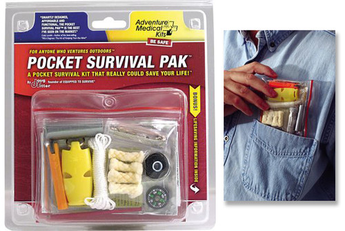 ADVENTURE MEDICAL KITS POCKET SURVIVAL PAK. DOUG RITTER DESIGN. CUTLERY SHOPPE