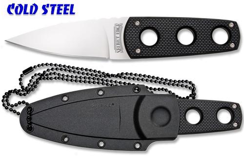 "COLD STEEL 11SDT SECRET EDGE NECK KNIFE. 3.5"" PLAIN EDGE AUS-8A BLADE. CUTLERY SHOPPE"