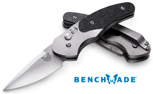 "Benchmade 3150 Impel AUTOMATIC - 1.98"" Satin Finish Plain Edge CPM-S30V Blade - CUTLERY SHOPPE"