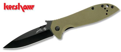 "Kershaw 6054BRNBLK Emerson CQC-4K Wave - 3.25"" Black Finish Spear Point Blade - Coyote Brown Handle - CUTLERY SHOPPE"