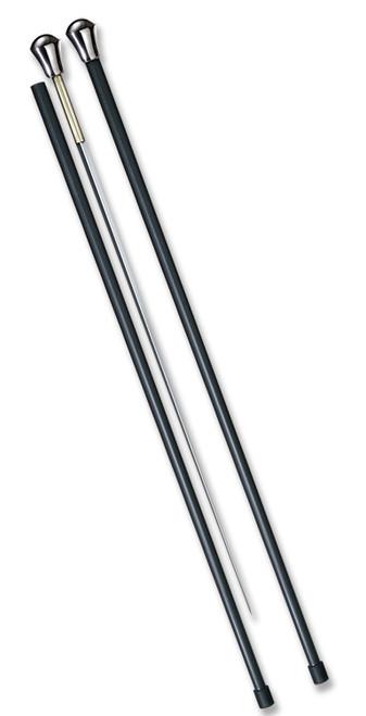 "COLD STEEL 88SCFA ALUMINUM HEAD SWORD CANE W/CARBON FIBER SHAFT. 25.75"" 1055 CARBON STEEL BLADE.  37.625"" OVERALL LENGTH. CUTLERY SHOPPE"
