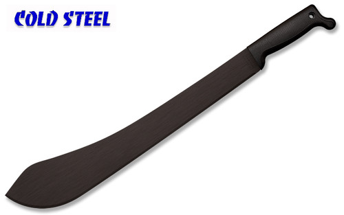 "Cold Steel 97LBM Bolo Machete – 18"" Black Finish Plain Edge Blade – Polypropolene Handle"