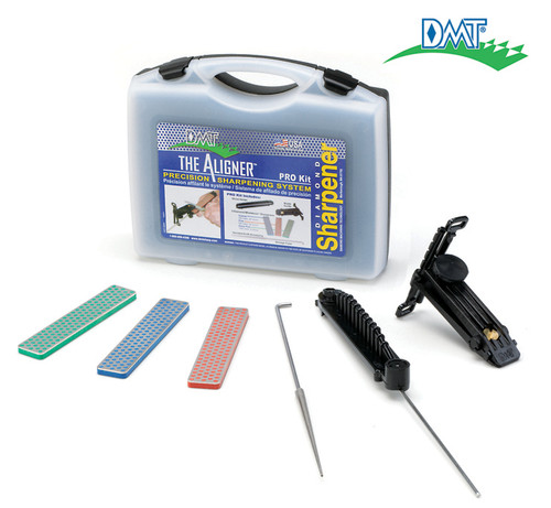 DMT A-PROKIT ALIGNER PROKIT W/CARRY CASE. EXTRA-FINE, FINE & COARSE W/FINE SERRATION SHARPENER. CUTLERY SHOPPE