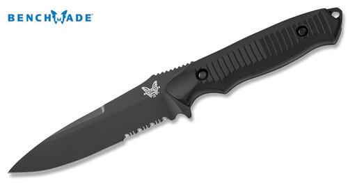 Benchmade 140SBK Nimravus - BK1 Coated 154CM Blade - Combo Edge  - CUTLERY SHOPPE