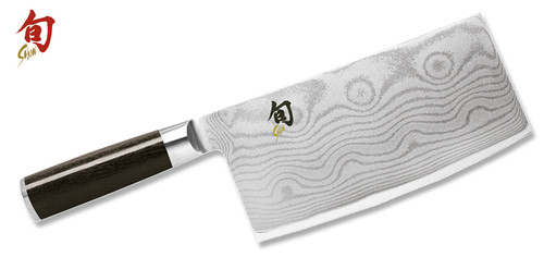 "Shun Classic 7.0"" Damascus Vegetable Cleaver  DM0712  Cutlery Shoppe"