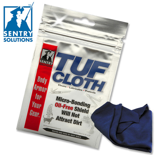 "SENTRY SOLUTIONS TUF-CLOTH. PART # 91010. 12"" X 12"" SIZE. CUTLERY SHOPPE"