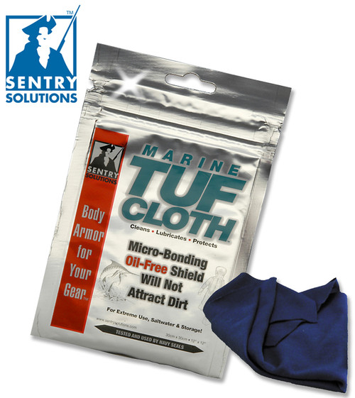 "SENTRY SOLUTIONS 91020 MARINE TUF-CLOTH. 12"" x 12"" CLOTH. CLEANS & HELPS PREVENT RUST. CUTLERY SHOPPE"