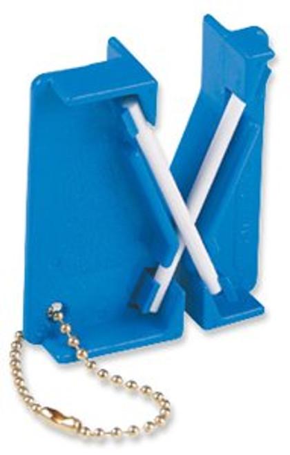 "Lansky #LCKEY ""The Mini"" Crock Stick Knife Sharpener - Two Alumina Ceramic Rods"