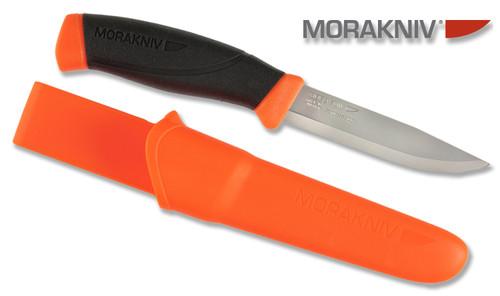 "MORAKNIV 11824 COMPANION ORANGE 4.1"" SANDVIK 12C27 STAINLESS STEEL BLADE. CUTLERY SHOPPE"