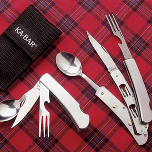 KA-BAR Knives 1300 Hobo Knife/Fork/Spoon Diner Set - CUTLERY SHOPPE