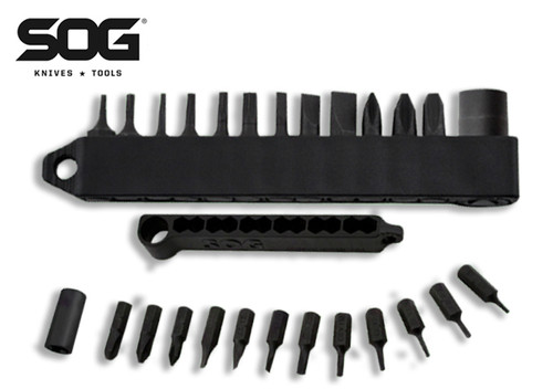 "SOG Knives HXB01 Hex Bit Accessory Kit - 1/4"" Driver w/12 Interchangeable Bits - CUTLERY SHOPPE"