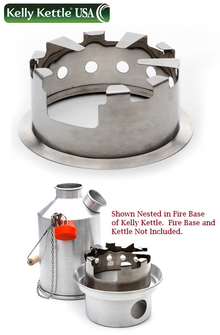 Kelly Kettle 50115 Hobo Stove - To Be Used With Stainless Steel Fire Ring From Base Camp or Scout To Hold Pots Or Pans