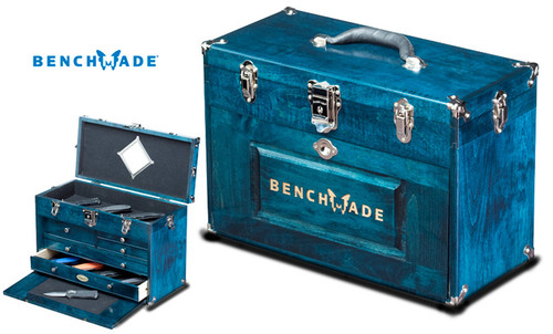 BENCHMADE CUSTOM OAK DISPLAY CHEST. CRAFTED BY H. GERSTNER & SONS, USA. CUTLERY SHOPPE