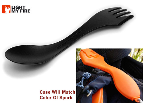Light My Fire SporkCase Travel/Storage Case - Includes 1 Spork - Black