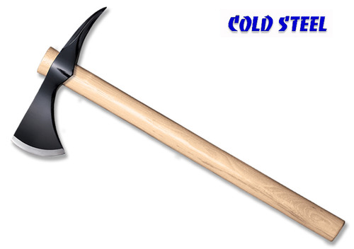 "Cold Steel 90SH Spike Hawk - Drop Forged 1055 Carbon Head w/3.125"" Sharp Edge and Spike - American Hickory Handle - CUTLERY SHOPPE"
