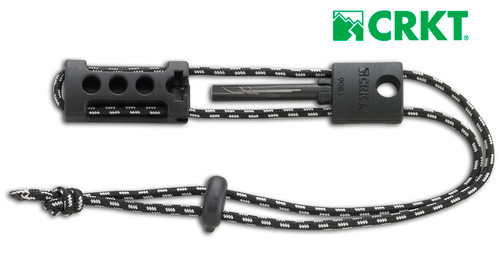 CRKT 9081 Spark'N Sharp - Emergency Sharpener and Fire Starter - All Parts Connected with Lanyard So There Is Nothing To Lose - CUTLERY SHOPPE