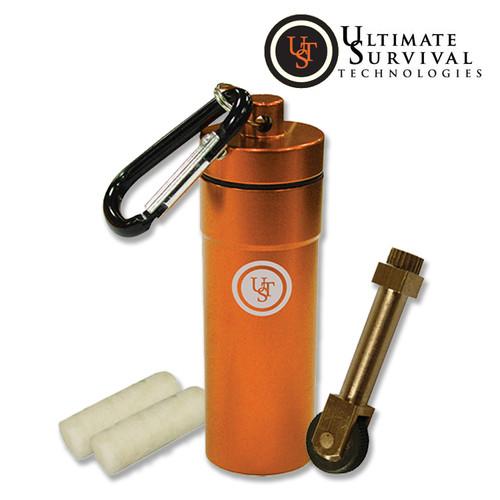 Ultimate Survival Stoke Kit - Aluminum Conatiner, SparkWheel & Light-Me-Tinder - CUTLERY SHOPPE
