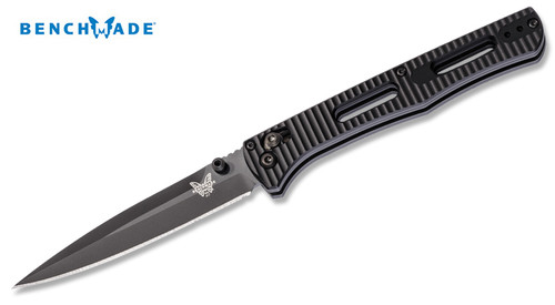 "Benchmade 417BK FACT Folder AXIS - 3.95"" Plain Edge CPM-S30V Black Finish Blade - Black Anodized 6061-T6 Aluminum Handle - CUTLERY SHOPPE"