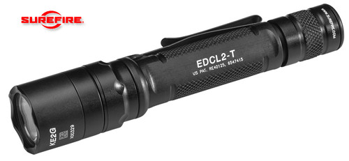 SUREFIRE EDCL2-T LED FLASHLIGHT. 2 123A BATTERIES. TIR LENS. ALUMINUM BODY. DUAL OUTPUT - 5 & 1,200 LUMENS. CUTLERY SHOPPE
