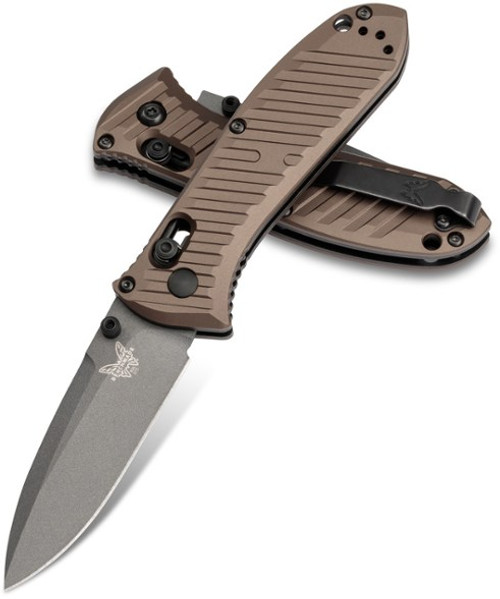 "Benchmade 575GY-2001 Mini Presidio II AXIS - 3.2"" Gray DLC Finish CPM-M4 Blade - Burnt Bronze Anodized 6061-T6 Aluminum Handle - LIMITED EDITION - SOLD OUT"