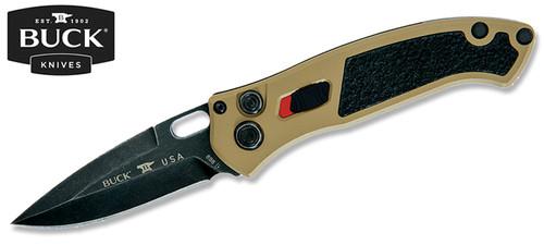 "BUCK KNIVES 0898BRS IMPACT AUTOMATIC KNIFE. 3.125"" PLAIN EDGE BLADE. PREMIUM S30V BLADE STEEL W/BLACK OXIDE FINISH. 6061-T6 ALUMINUM HANDLE WITH CERAKOTE FINISH. CUTLERY SHOPPE"