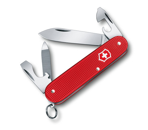 """VICTORINOX SWISS ARMY 0.2601.L18 CADET 84MM (3.31"""") RED BERRY ALOX HANDLE. 2018 LIMITED EDITION. CUTLERY SHOPPE"""