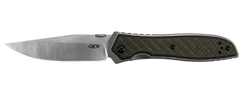 "Zero Tolerance 0640 Emerson - 3.75"" CPM 20CV Blade - Stonewash Titanium Handle w/Green Carbon Fiber Overlay - CUTLERY SHOPPE"